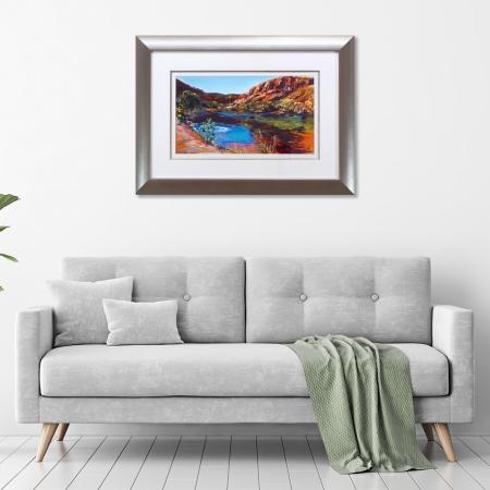 Ord River at Lake Argyle Framed in a room