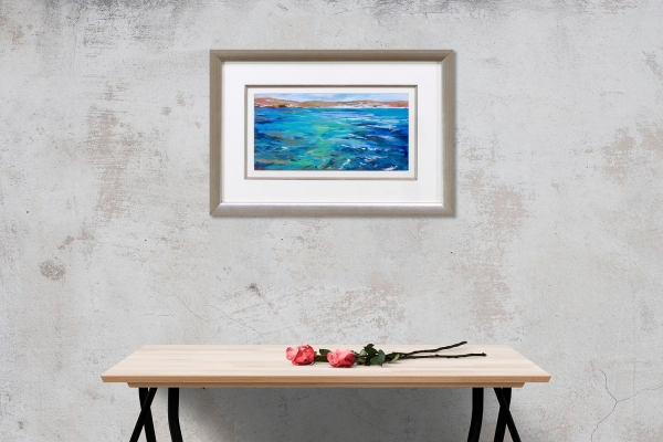Rottnest Waters Framed on a wall