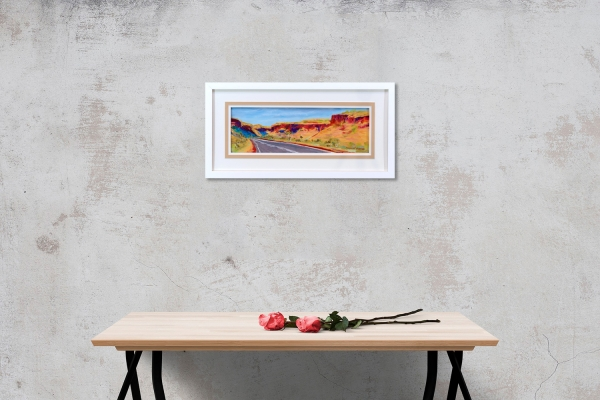 Through Munjina Gorge Framed on a wall