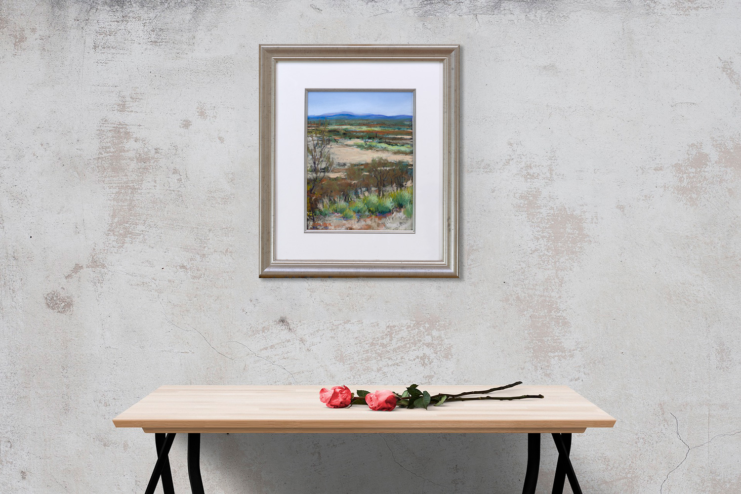 Towards the Barlee Ranges Framed on a wall