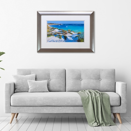 Turquoise Waters Framed in a room