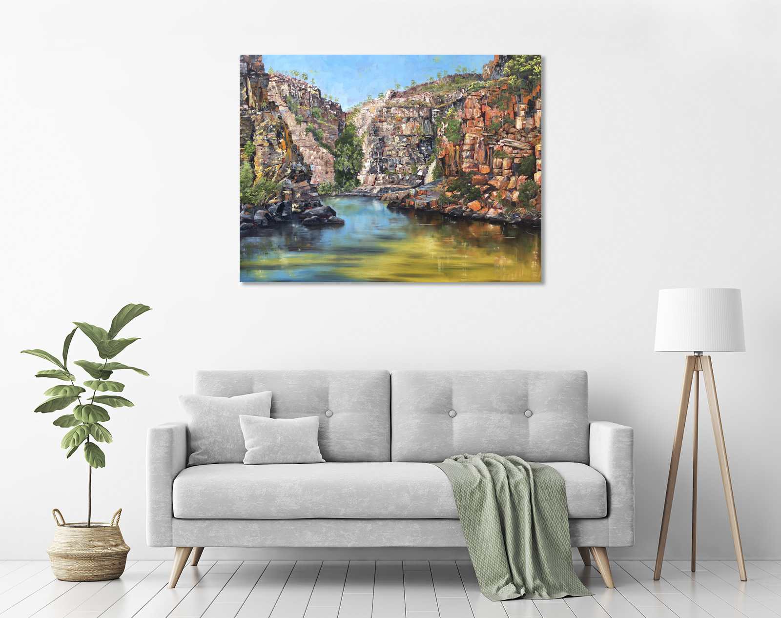 Katherine Gorge III in a room