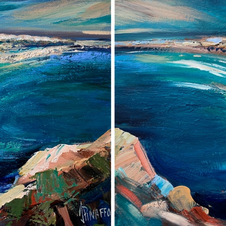 Seascape I and II Diptych