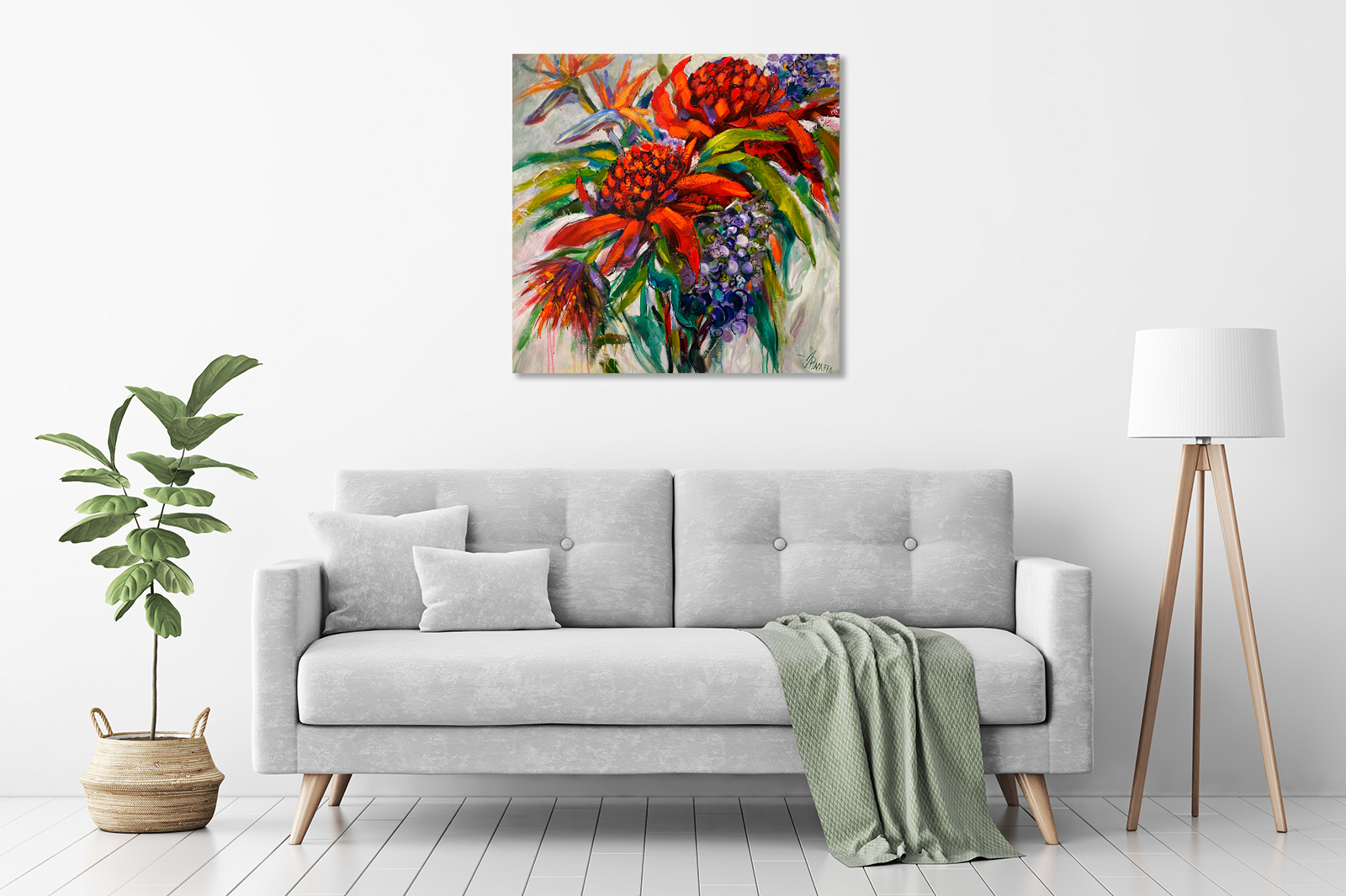 Red Waratahs and More in a room